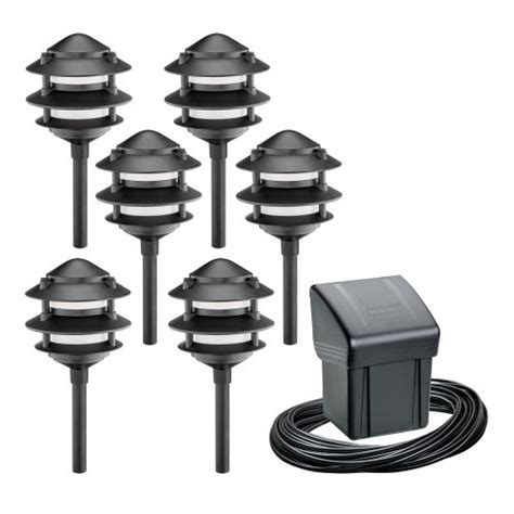 Intermatic Landscape Lighting Path Lights Intermatic Cl19126t Malibu Outdoor Tier Six Light Tier Light Kit With Power Pack