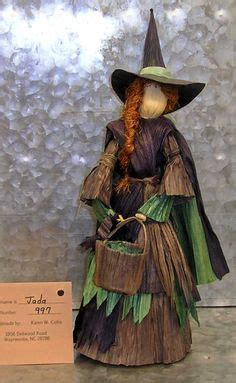 corn husk witch dolls beautiful witch corn husk doll with herb bag and