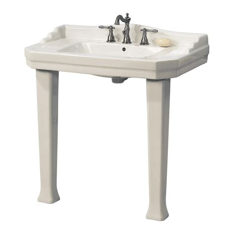 sink legs home depot pegasus series 1900 console lavatory and pedestal combo in