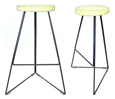 metal bar chairs concrete industrial concrete steel coleman bar stool by