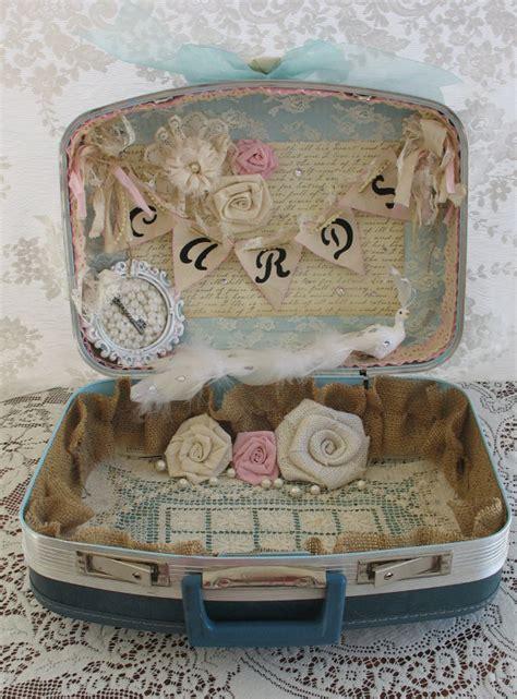 Used Rustic Wedding Decorations For Sale Vintage Suitcase Wedding Card Box Wedding Card Holder Shabby
