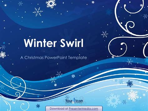 Winter Swirl Powerpoint Template Snowflake Powerpoint Template
