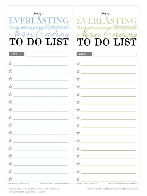 free printable to do list template free printable to do lists printables templates