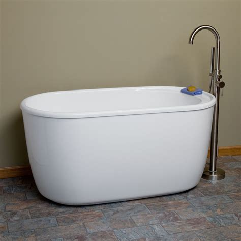 acrylic soaking bathtub 55 quot vada acrylic soaking tub tap deck no overflow or