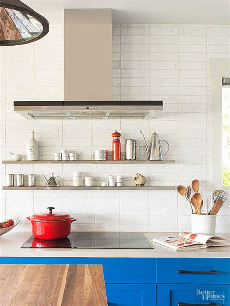 stacked kitchen backsplash new ways to arrange subway tile better homes gardens