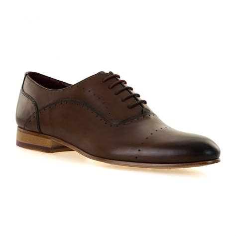 oxford lace up shoes ted baker mens anthonii oxford lace up shoes brown