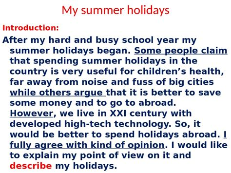 How I Spent My Holidays Essay For by How You Spend Your Vacation Essay