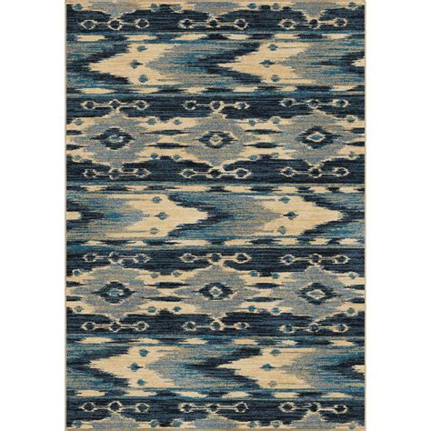 10 Ft Rug by Orian Rugs Mountain Blue 7 Ft 10 In X 10 Ft 10 In Indoor Area Rug 353938 The Home Depot