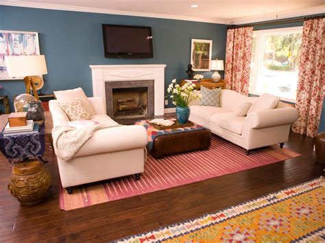 Blue Country Living Room by Photos Hgtv