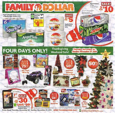 5 dollar black friday family dollar black friday 2017 ads deals and sales