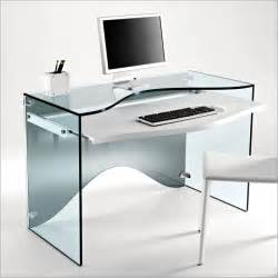 glass computer desk elegant transparent glass desk strata by tonelli digsdigs