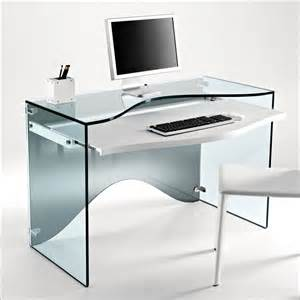 transparent glass desk strata by tonelli digsdigs