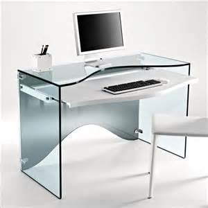 Elegant transparent glass desk strata by tonelli digsdigs