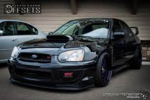 Subaru Wrx Sti Custom Wheel Offset 2005 Subaru Impreza Hellaflush Dropped 3