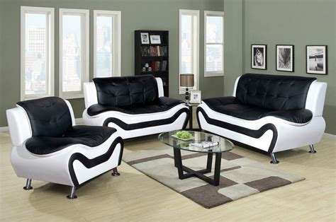 White Leather Chairs For Living Room Black And White Leather Living Room Furniture Living Room