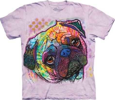 the mountain pug shirt hemdchen24 dogs pug dean russo t shirt the mountain lovable pug