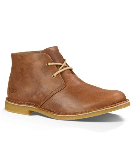 mens ugg chukka boots ugg 174 s leighton casual chukka boots in brown for