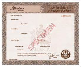 service alberta available marriage documents