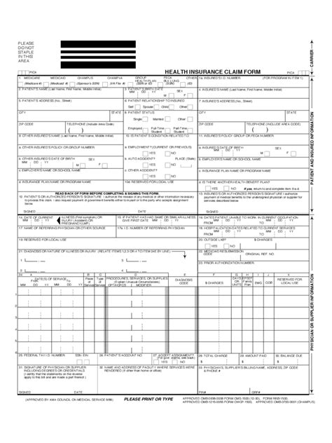 insurance claim form 3 free templates in pdf word