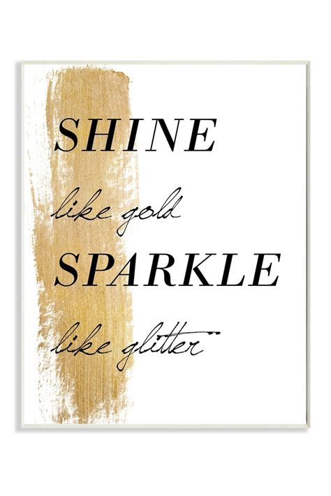 gld quote stupell shine like gold sparkle wall 10x15 gold