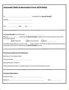 ach authorization form template ach authorization form 9067480 png letterhead template