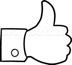 how to draw a thumbs up facebook like step by step