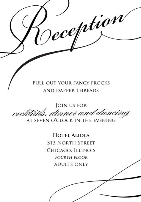 Wedding Invitation Wording Wedding Reception Invitation Template Uk Reception Invitation Templates Free
