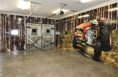 Garage Decorating Ideas by Garage Wall Decorating Ideas Garage Rustic With Tile Floor
