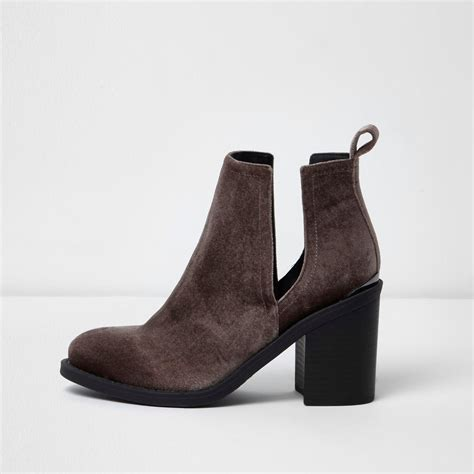 river island boots for river island brown cut out boots in brown lyst