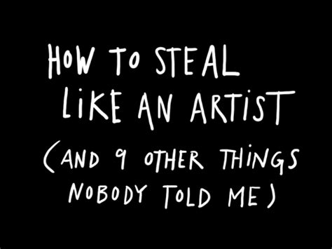 steal like an artist 0761185682 how to steal like an artist colvin photography