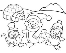 penguins coloring pages coloringsuite