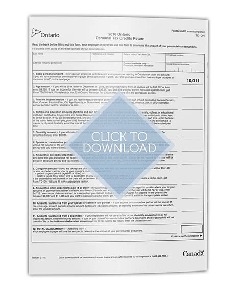 Tax Credit Form Ontario Tax Forms Bv Accounting Tax Professional Corporation