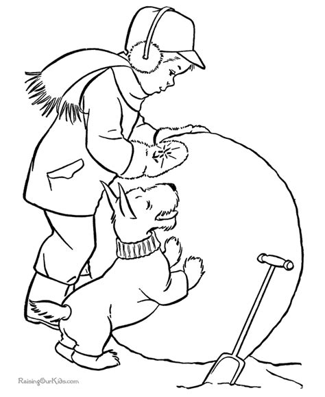 coloring pages winter activities winter fun sheet to color 031