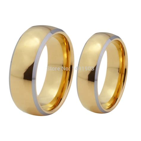 shiny tungsten wedding ring engagement ring for
