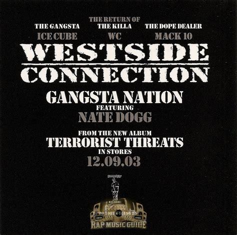 westside connection gangsta nation westside connection gangsta nation single promo cd