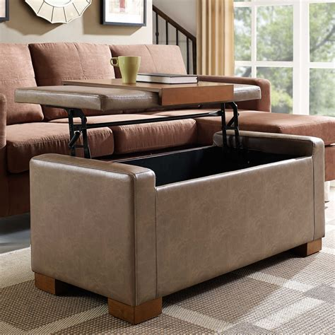 davis lift top storage ottoman ottomans that convert to beds brown leather sofa bed and