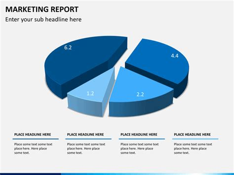 marketing report powerpoint template sketchbubble