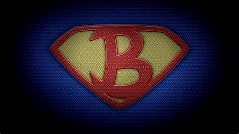 the b the letter b in the style of man of steel color