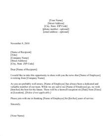 Retirement Announcement Letter Sle by Formal Letter Sle Template 51 Free Word Pdf Documents Free Premium Templates