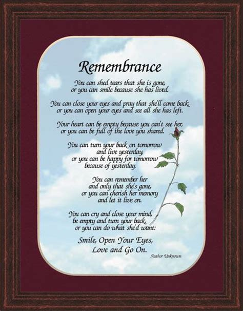 Poem You Can Shed Tears That He Is by 1000 Images About Bereavement Plaques On