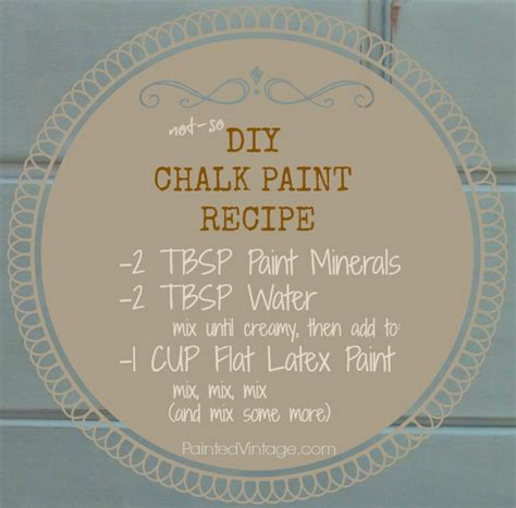 chalk paint diy recipe diy chalk paint recipe painted vintage