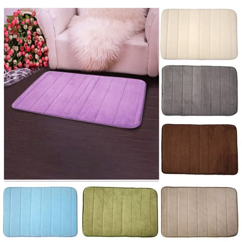 how to clean memory foam rug 2016 new 1pcs memory foam bath mat bathroom horizontal stripes rug non slip bath mats 7 solid