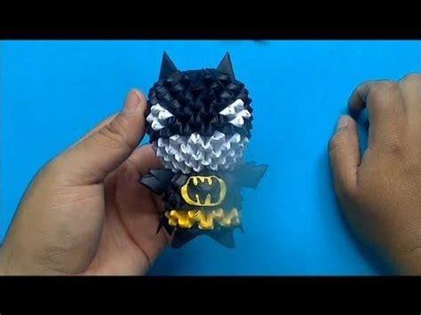 3d origami batman tutorial origami 3d mini batman origami en 3d pinterest
