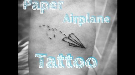 tattoo paper youtube paper airplane tattoo youtube