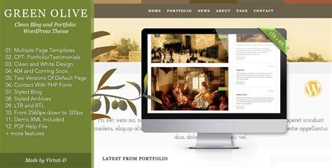 wordpress theme blog and portfolio green olive stylish blog and portfolio theme wpfriendship
