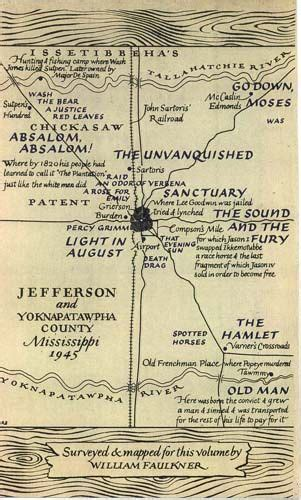 The Portable Faulkner william faulkner map of yoknapatawpha county from the