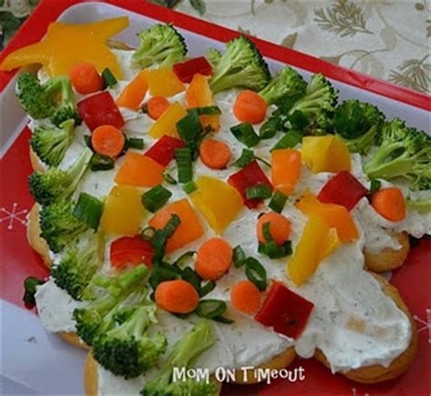 crescent roll christmas tree appetizer veggies crescents and trees on