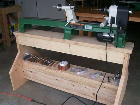 wood lathe bench plans lathe stand bing images shop pinterest workbenches