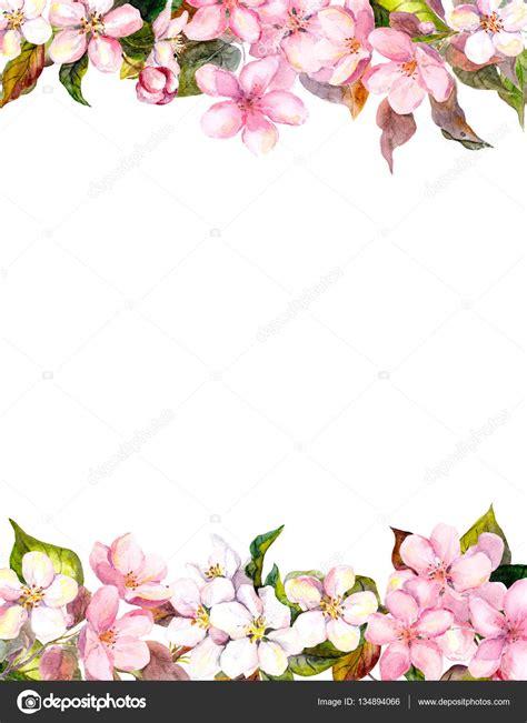cornice floreale fiori rosa mela fiori di ciliegio cornice floreale per
