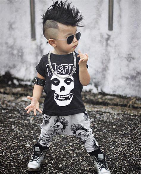 Baby Victory Boy 3y 2 0 3y newborn baby boy clothes infant toddler black skull t shirt top pant 2pcs